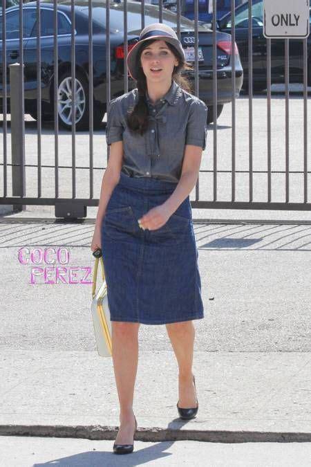 Style Zooey Deschanel by Zooey Deschanel Looked Delightful In Denim As She Was Seen