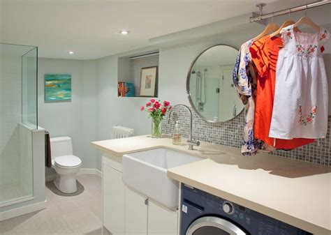 bathroom with laundry room ideas 24 basement bathroom designs decorating ideas design