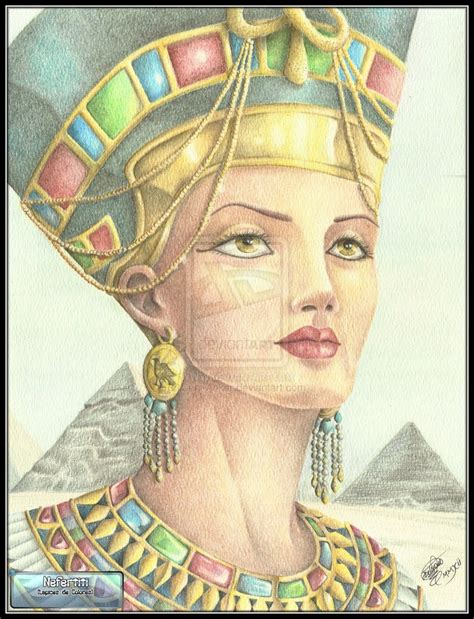 anker egypt nefertiti by juni anker on deviantart