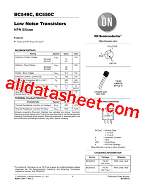 bc550c transistor equivalent bc550c datasheet pdf on semiconductor