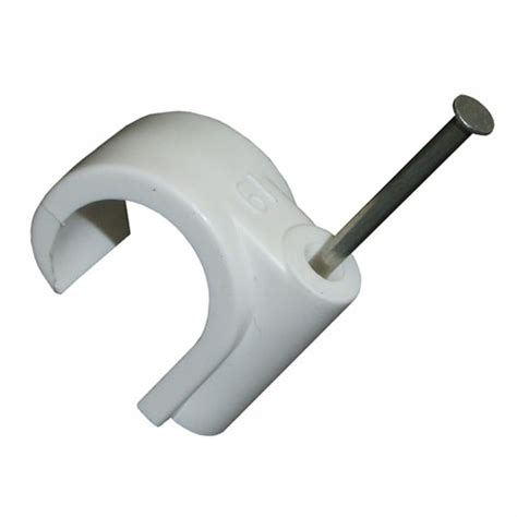 Furse One Cable Clip fm masonry nail pipe 16mm white box of 100