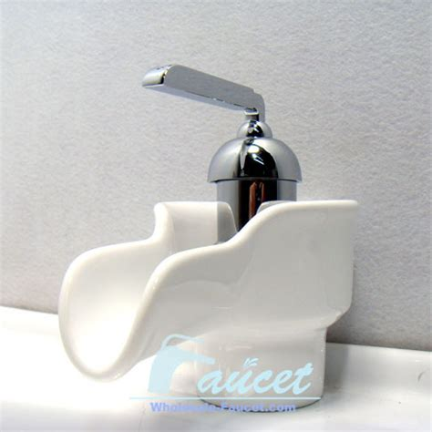 Bathroom Faucets White Porcelain Handles by Single Handle White Ceramic Bathroom Faucet 0240a