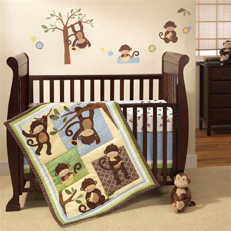 monkey nursery bedding lambs ivy crib set m is for monkey 3 piece set shop