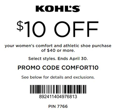 sports shoes coupon code kohl s coupon 10 40 s comfort and athletic
