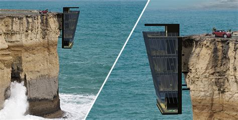 house on side of cliff cliff house modscape concept feel desain