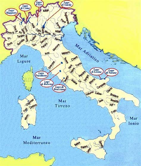 mari che bagnano l italia cartina italiana con i mari wroc awski informator