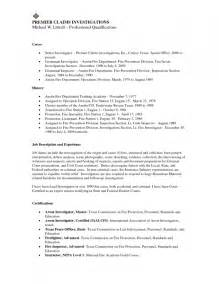 Department Resume by Marshal Objective For Resume Resume Template Exle
