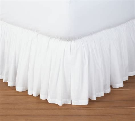 pottery barn bed skirts voile bed skirt pottery barn
