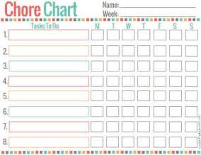 Chore Calendar Free Printable Chore Chart For