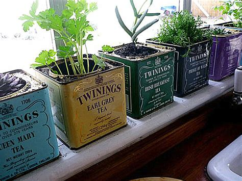 Windowsill Pots For Herbs Herb Windowsill Garden Decoist