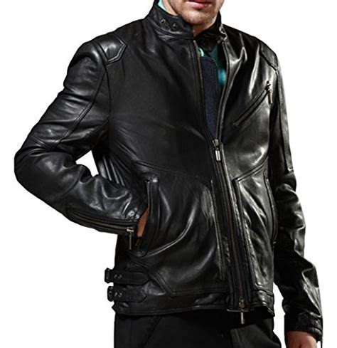 Look Korean Jaket Comby Leather 51 eprador s slim fit moto classic zip real leather jacket all style
