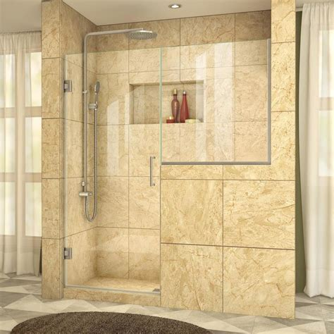 dreamline shower door installation shop dreamline unidoor plus 58 in to 58 5 in frameless