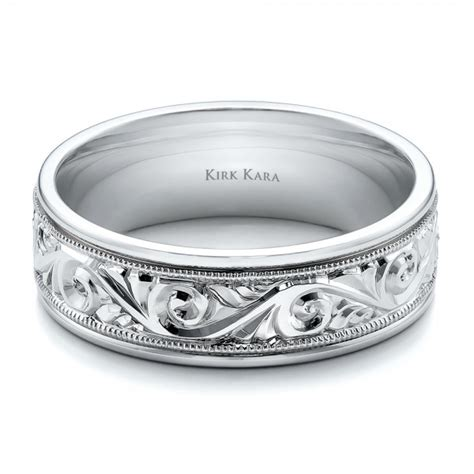 hand engraved mens wedding band kirk kara
