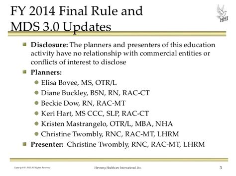 Mba For Mds by Fy 2014 Rule And Mds 3 0 Updates