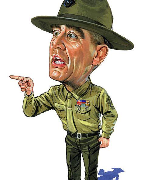 gunnery sergeant r ermey r ermey as gunnery sergeant hartman poster by