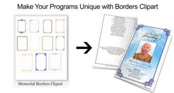 funeral program borders frames and microsoft autoshapes