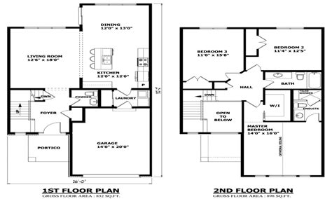 Two Storey House Design And Floor Plan | modern two story house plans 2 floor house two storey