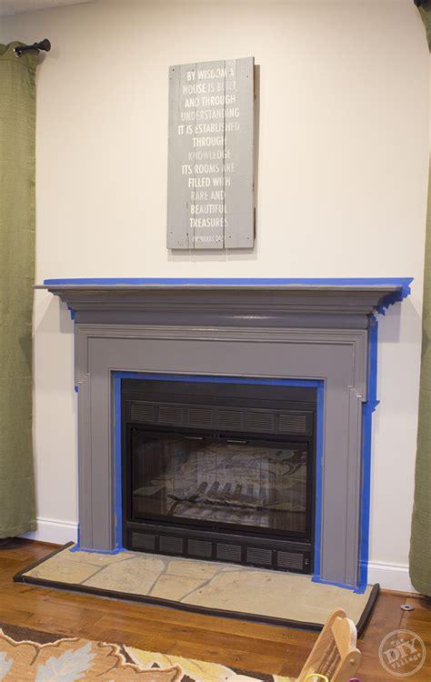 DIY Stone Fireplace Mantel Makeover   The DIY Village