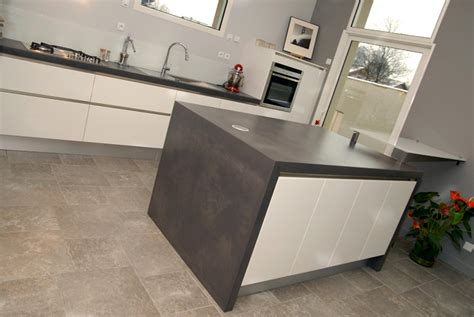 plan de travail cuisine effet beton plan de travail cuisine b 233 ton serve