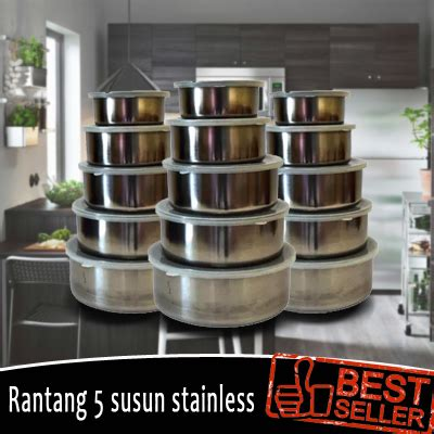 057 Rak Portable Serbaguna 2 Susun Plastik Stainless Steel Bagus buy rantang polos 5 susun stainless deals for only rp45