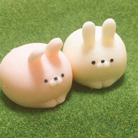 Squishy Strechi rabbit squishy rising kawaii mini mochi bunny phone squeeze stretchy pendant