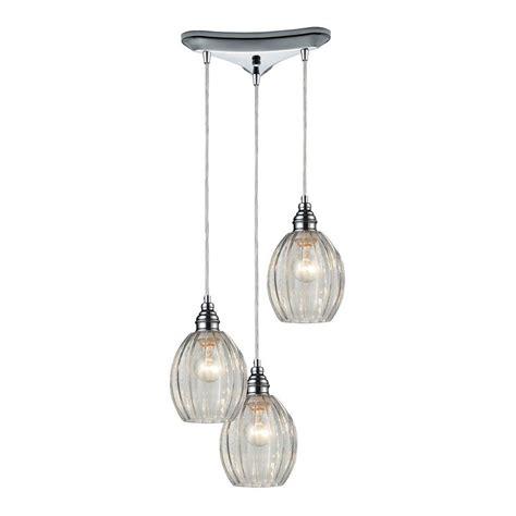 titan lighting danica 3 light polished chrome ceiling