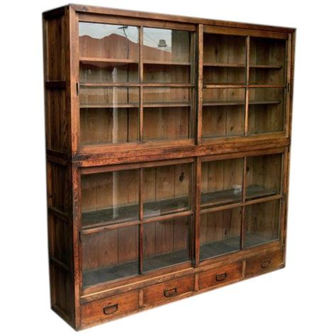 modern bookcase with doors 148 best tansu images on pinterest japanese furniture