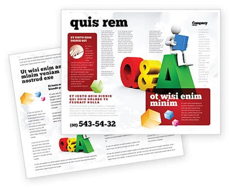 layout questions and answers questions answers brochure template design and layout