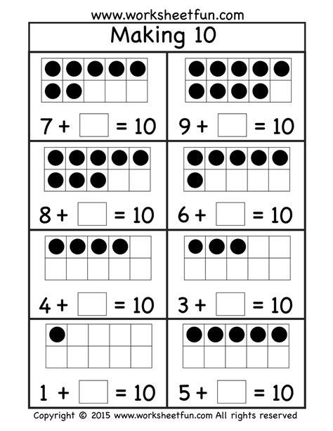 free ten worksheet 1 oszt math