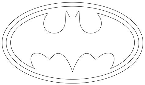Batman Symbol Coloring Pages Batman Logo Outline To Print And Use by Batman Symbol Coloring Pages