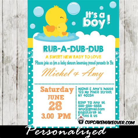 baby duck shower invitations free printables rubber duck baby shower invitation personalized