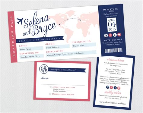 airline ticket invitation template free airline ticket wedding invitation template free