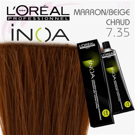 l oreal professional inoa 7 35 golden mahogany hair color free shipping on orders inoa color 7 35 blond dor 233 acajou sans ammoniaque