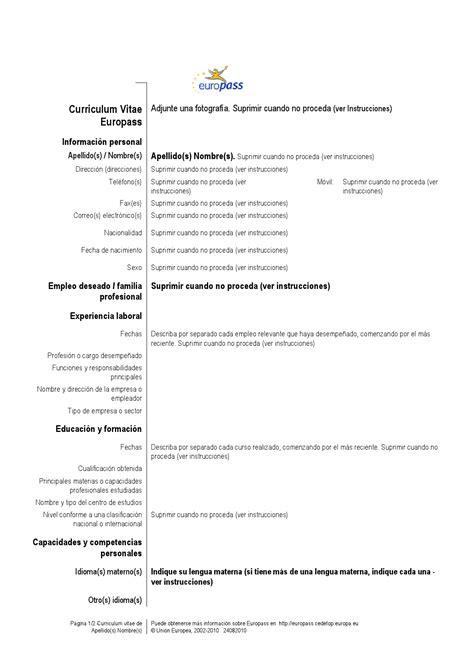 Modelo Curriculum Vitae Basico Chile Curriculum Vitae Formato