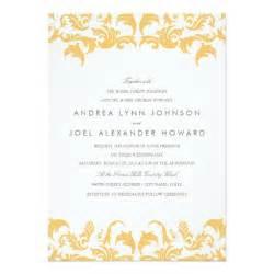 glamorous gold wedding invitation zazzle