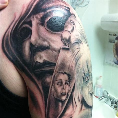 michael myers tattoo designs powerline tattoos larry digiusto