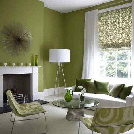 Green Walls Living Room for the home on 90 pins