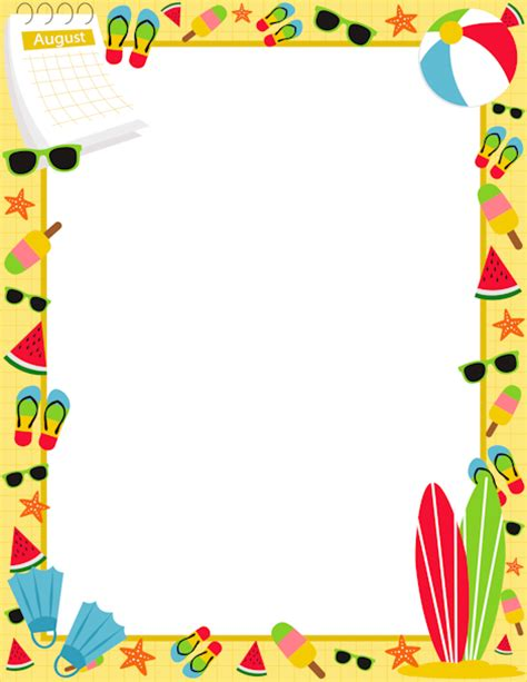 Beach Cliparts Borders   Free Download Clip Art   Free