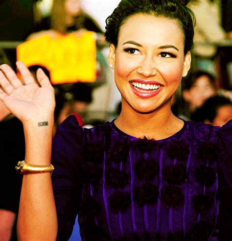celebrity tattoo of the day glee tattoo edition naya