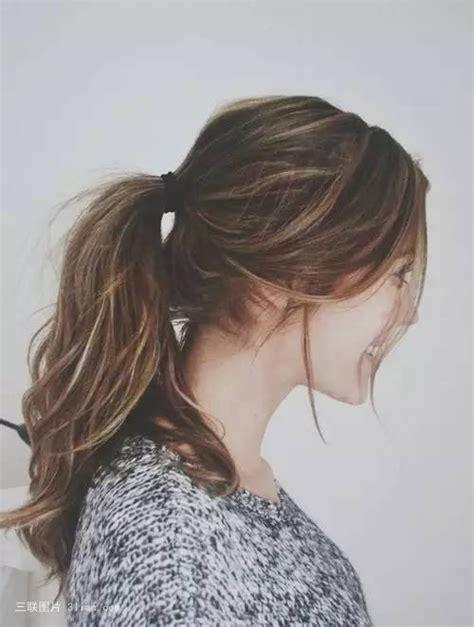 cute brunette hairstyles tumblr 马尾辫女孩图片大全