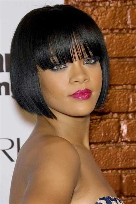 hairstyles for black women with short neck short straight hairstyles with bangs short hairstyles