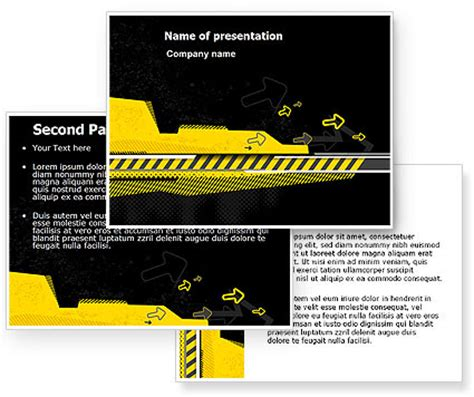 under construction theme powerpoint template
