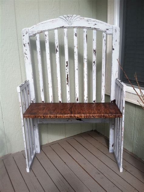 baby crib bench bench we made from an old crib cribs pinterest