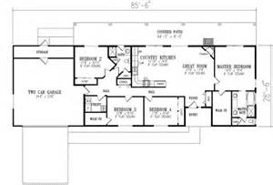 2 bedroom ranch floor plans ranch style house plan 4 beds 2 baths 1720 sq ft plan 1 350