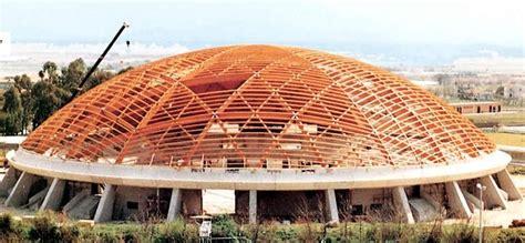 cupola geodetica legno copertura geodetica in legno lamellare