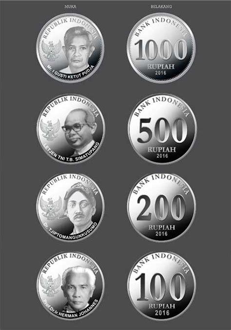 Uang Lama Pecahan Rp 1 000 Koin wajah uang rupiah indonesia baru tahun emisi 2016 kanal