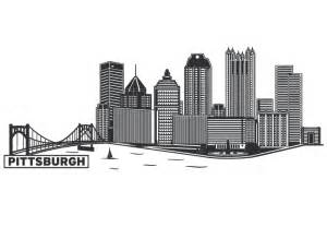 New York City Wall Sticker pittsburgh cityscape by wall decal shop on deviantart