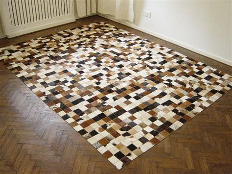 Cowhide Patchwork Rugs - new cowhide patchwork rug leather carpet cu 515 ebay