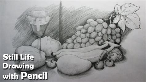 Cool Fruit Bowls by How To Draw A Still Life Fruits In Pencil Step By Step