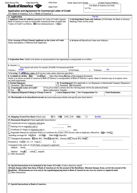 Fillable Application And Agreement For Commercial Letter